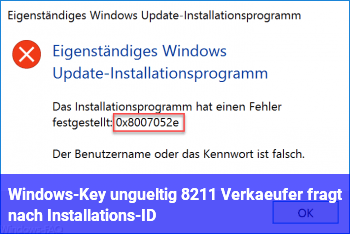 Windows-Key ungültig – Verkäufer fragt nach Installations-ID