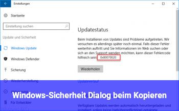 Windows-Sicherheit Dialog beim Kopieren
