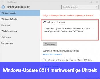 Windows-Update – merkwürdige Uhrzeit