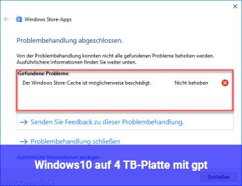 Windows10 auf 4 TB-Platte mit gpt
