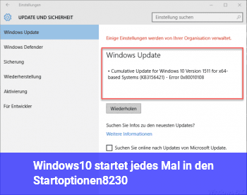 Windows10 startet jedes Mal in den Startoptionen…