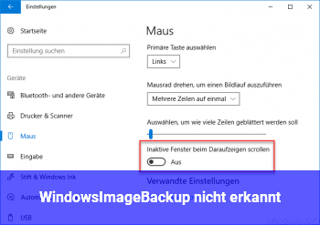 WindowsImageBackup nicht erkannt