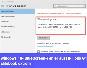 Windows 10- BlueScreen-Fehler auf HP Folio G1 Elitebook [extrem]