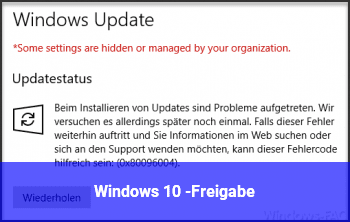 Windows 10 $-Freigabe