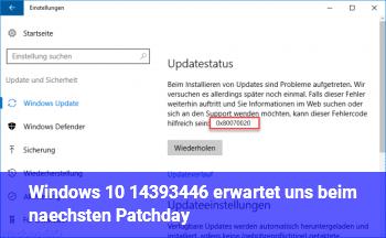 Windows 10 14393.446 erwartet uns beim nächsten Patchday