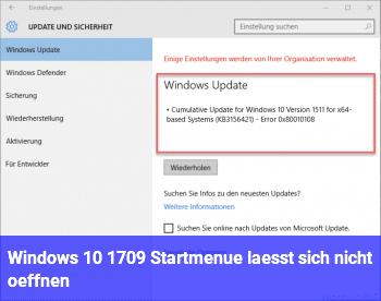 windows 10 1709 startmen l sst sich nicht ffnen windows 10 net. Black Bedroom Furniture Sets. Home Design Ideas