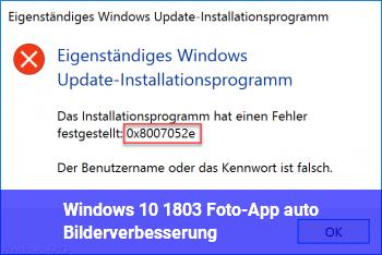 Windows 10 (1803) Foto-App, auto. Bilderverbesserung