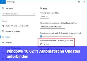 Windows 10 – Automatische Updates unterbinden