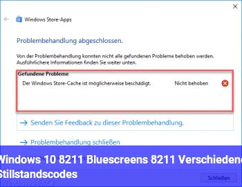 Windows 10 – Bluescreens – Verschiedene Stillstandscodes
