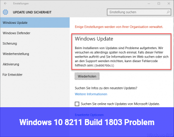 Windows 10 – Build 1803 Problem.