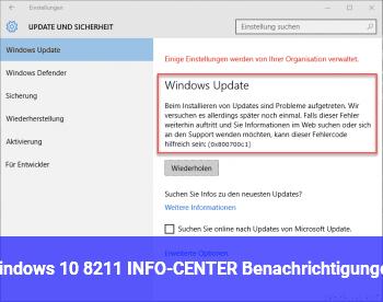 Windows 10 – INFO-CENTER (Benachrichtigungen)