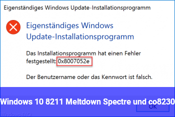 Windows 10 – Meltdown, Spectre und co…