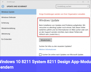 Windows 10 – System – Design (App-Modus) ändern