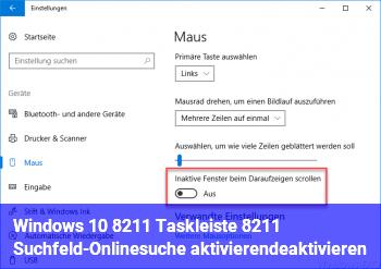 Windows 10 – Taskleiste – Suchfeld-Onlinesuche aktivieren/deaktivieren