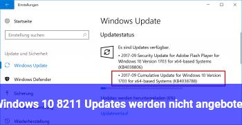 Windows 10 – Updates werden nicht angeboten