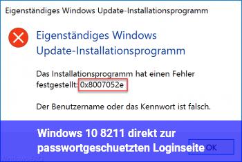 Windows 10 – direkt zur passwortgeschützten Loginseite