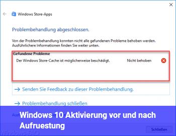 Windows 10 Aktivierung vor und nach Aufrüstung