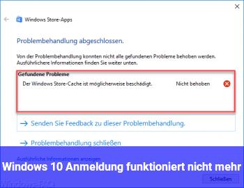 Windows 10 Anmeldung funktioniert nicht mehr