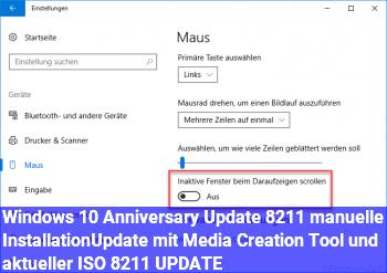 Windows 10 Anniversary Update – manuelle Installation/Update mit Media Creation Tool und aktueller ISO – UPDATE