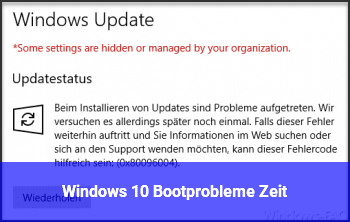 Windows 10 Bootprobleme / Zeit