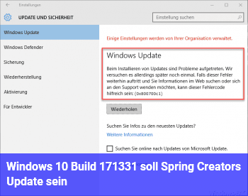 Windows 10: Build 17133.1 soll Spring Creators Update sein