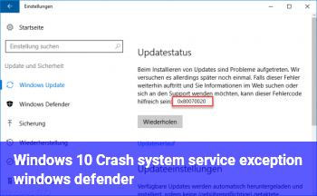 Windows 10 Crash system service exception (windows defender?)