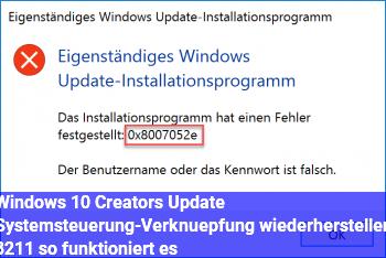Windows 10 (Creators Update): Systemsteuerung-Verknüpfung wiederherstellen – so funktioniert es