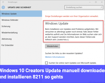 Windows 10 Creators Update manuell downloaden und installieren – so gehts