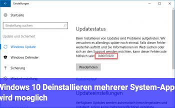 Windows 10: Deinstallieren mehrerer System-Apps wird möglich