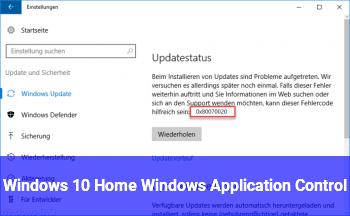 Windows 10 Home Windows Application Control