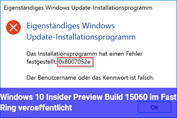 Windows 10 Insider Preview Build 15060 im Fast Ring veröffentlicht