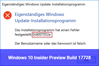 Windows 10 Insider Preview Build 17728