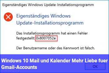 Windows 10 Mail und Kalender: Mehr Liebe für Gmail-Accounts