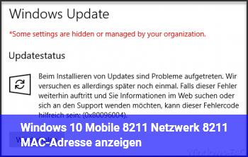 Windows 10 Mobile – Netzwerk – MAC-Adresse anzeigen