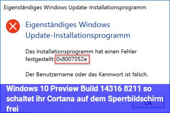 Windows 10 Preview Build 14316 – so schaltet ihr Cortana auf dem Sperrbildschirm frei