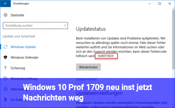 Windows 10 Prof 1709 neu inst. jetzt Nachrichten weg!!