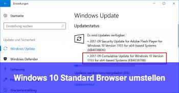Windows 10 Standard Browser umstellen?