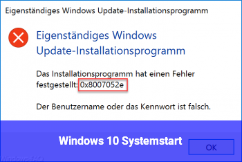 Windows 10 Systemstart