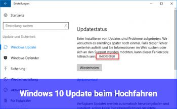 Windows 10 Update beim Hochfahren