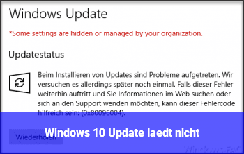 Windows 10 Update lädt nicht