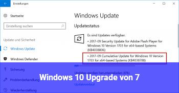 Windows 10 Upgrade von 7