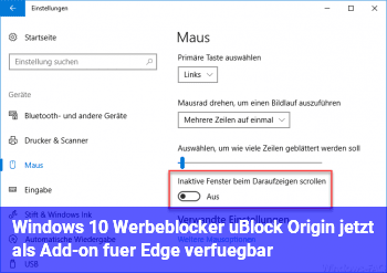 Windows 10: Werbeblocker uBlock Origin jetzt als Add-on ...