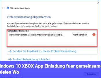 Windows 10 XBOX App Einladung für gemeinsames Spielen, Wo?