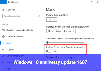 Windows 10 anniversy update 1607