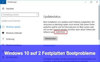 Windows 10 auf 2 Festplatten Bootprobleme