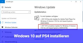 Windows 10 auf PS4 installieren