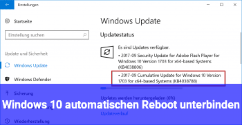 Windows 10 automatischen Reboot unterbinden