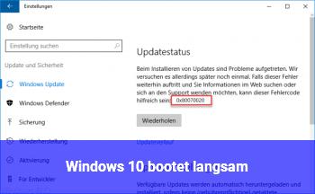 Windows 10 bootet langsam!