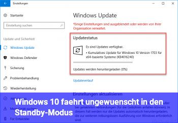 Windows 10 fährt ungewünscht in den Standby-Modus