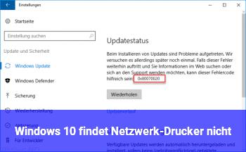Windows 10 findet Netzwerk-Drucker nicht